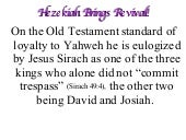 July 13-19 Hezekiah Brings Revival