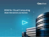 BSM for Cloud Computing
