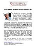 Your Hearing and Your Income
