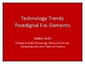 Technology Trends 2013 - Postdigita...