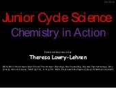 Junior cycle science chemistry in a...
