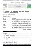 An Evaluation of the Multipurpose of the Jatropha Curcas Oil for Industrial Uses