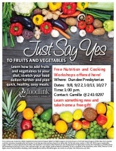 Just Say Yes flyer