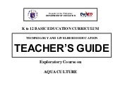 K to 12 aquaculture teacher's guide