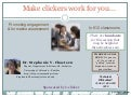 Make clickers work for you:  Engagement and assessment in K12 classrooms