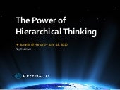 The Power of Hierarchical Thinking - Ray Kurzweil - H+ Summit @ Harvard