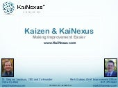 KaiNexus Webinar January 30 2012