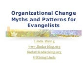 Fearless Change - Myths and Patterns of Organizational Change - Linda Rising