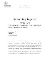 Schooling in poor families: The eff...