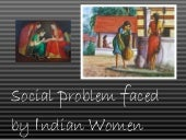 social problems faced by women
