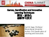 Games, Gamification and Innovative Learning Techniques (Chinese Translation)
