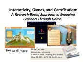 W209 - Interactivity, Games, and Ga...