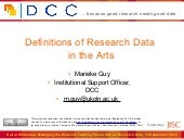 Definitions of Research Data in the...