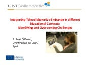 Integrating Telecollaboration in different educational contexts – identifying and overcoming challenges