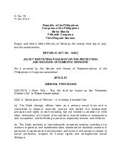 Kasambahay Law - REPUBLIC ACT NO. 1...