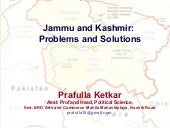 Jammu and Kashmir Problems and Solu...