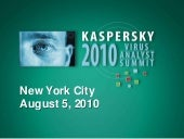 Kaspersky North American Virus Anal...