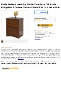 Kathy ireland home by martin furniture california bungalow 2 drawer vertical wood file cabinet in oak