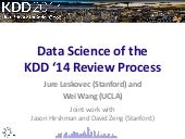 Data Science view of the KDD 2014