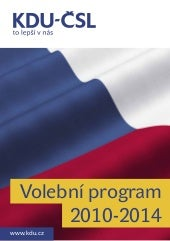KDU-CSL - Volebni program do poslan...