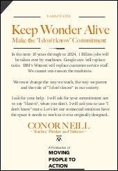 Keep Wonder Alive, Manifesto #idont...