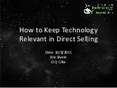 Is Your Direct Selling Technology Strategy Relevant?
