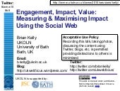 Engagement, Impact, Value: Measurin...
