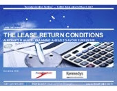 Planning ahead to avoid surprises with the lease return conditions…