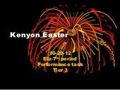Kenyon easter