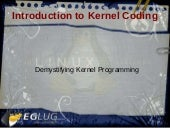 Introduction to Kernel Programming