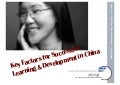 Key Factors for Successful Learning & Development in China