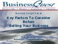Key Factors To Consider Before Selling Your Business
