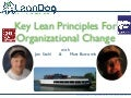 Key lean principles for organizational change