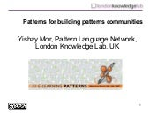 Patterns for building patterns comm...