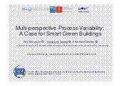 Multi-perspective Process Variability:  A Case for Smart Green Buildings