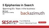 5 Epiphanies from 20 Years in Search Marketing