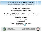 Chicago LGBTQ Disparities:  Working...
