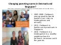 Changing parenting norms in Denmark and Singapore? Dr Dil Bach
