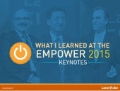 Keynote Quotes | Empower 2015