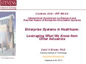 Enterprise systems in healthcare: ...