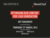 Optimising B2B Content for Lead Gen...