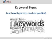 Keyword types - Lear how keywords can be classified