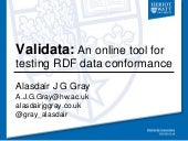 Validata: An online tool for testing RDF data conformance