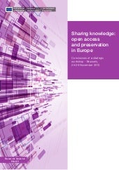 Knowledge sharing: OA and preservat...