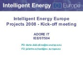 Kickoff Adore-it - Intelligent Ener...