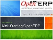 Kick starting OpenERP