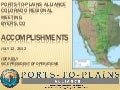 Ports-to-Plains Alliance Accomplishments