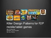 Killer Design Patterns for F2P Mobile/Tablet Games