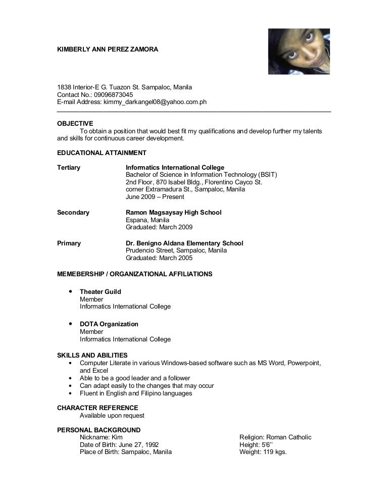 Format For References On A Resume | Resume Format And Resume Maker