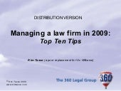 Managing a Law Firm by Kim Tasso